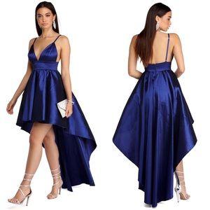 Windsor Formal Royal Blue High-low Dress Size M